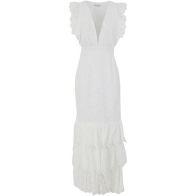 TRUE DECADENCE ロングワンピース&ドレス ホワイト 12 コットン 100% ロングワンピース&ドレス