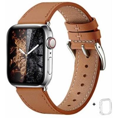 WFEAGL コンパチブル Apple Watch バンド は本革レザーを使い、iWatch SE、 Series 6/5/4/3/2/1、Sport、Edition向けのバンド交換ストラ