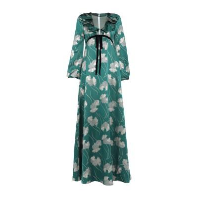 ロシャス ROCHAS ロングワンピース&ドレス グリーン 40 シルク 84% / ポリエステル 16% ロングワンピース&ドレス