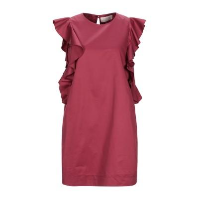 KAOS JEANS ミニワンピース&ドレス ボルドー 42 コットン 100% ミニワンピース&ドレス