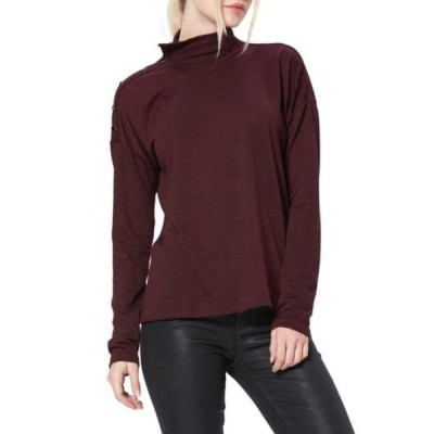 ペイジ レディース Tシャツ トップス Paxton Convertible Neck Sweater CABERNET/BLACK