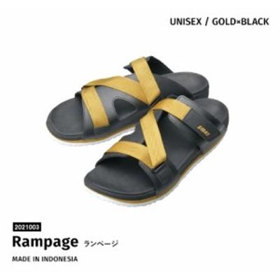 シダス SIDAS  サンダル Rampage ランページ 2021003 GOLD×BLACK リカバリー 3D ユニセックス(2021003)