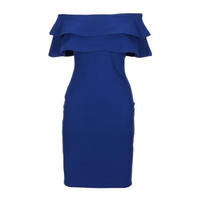 FOREVER UNIQUE ミニワンピース&ドレス ブライトブルー 2 ポリエステル 100% ミニワンピース&ドレス