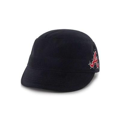 野球 MLB 海外バイヤーセレクト 47 Atlanta Braves Girl's Toddler Navy Military Adjustable Hat
