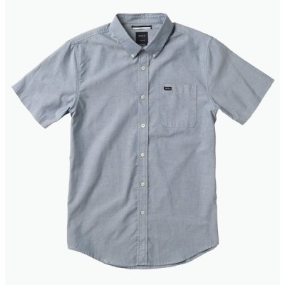 RVCA That'Ll Do Oxford S/S Woven Shirt Distant Blue M シャツ 送料無料