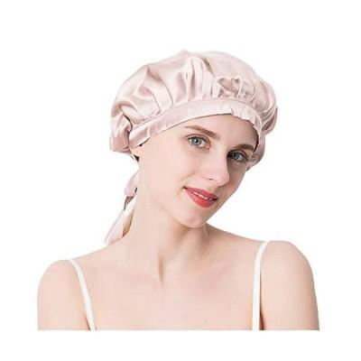Everkeen シルクナイトキャップ シルク100% サイズ調節可能 ロングヘア対応 就寝用 産後用 保湿 美髪 ツヤ髪 ヘアナイトキャップ お休み
