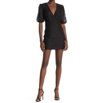 エヌ・エス・アール レディース ワンピース トップス Harlow Lace Mini Dress BLACK