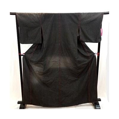 デニム着物 ブラック ダメージ有り レディース フリーサイズ