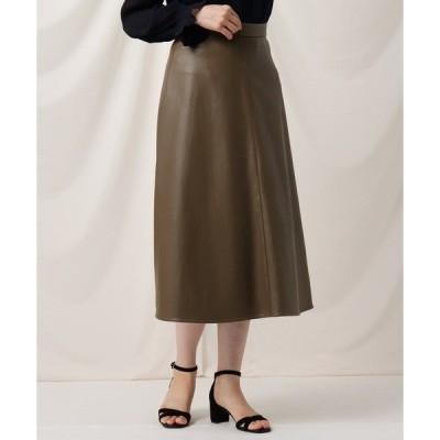スカート フェイクエコレザースカート