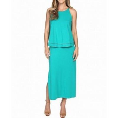 Lilla P  ファッション ドレス Lilla P NEW Mallard Green Women Size Medium M Popover Midi Sheath Dress