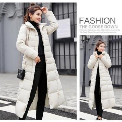 中綿コート レディース ふわふわファー付き ダウン風コート  ロング丈 厚手 アウター 暖かい  キルティングコート 防寒 通勤
