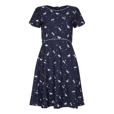 【残り1点!】【サイズ:16】ユミ Yumi レディース ワンピース・ドレス ワンピース Uicorn And Star Print Dress navy