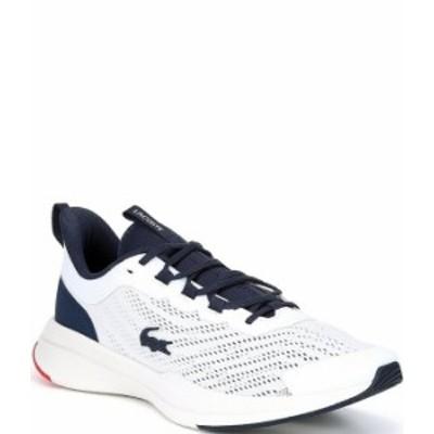 ラコステ メンズ スニーカー シューズ Men's Run Spin Sneakers White/Navy