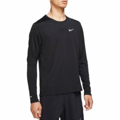 ナイキ Nike メンズ ランニング・ウォーキング ドライフィット トップス Dri-FIT UV Miler Long Sleeve Shirt Black/Reflective Silv