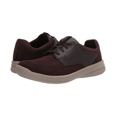 Clarks クラークス メンズ 男性用 シューズ 靴 スニーカー 運動靴 Step Stroll Lace - Brown Leather