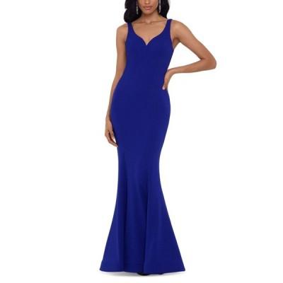 ベッツィアンドアダム Betsy & Adam レディース パーティードレス ワンピース・ドレス Back-Detail Gown Royal Blue