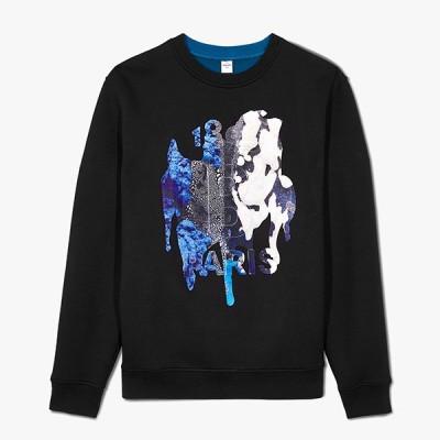 ベルルッティ Berluti☆メンズBrian Rochefort Sweatshirt With Printed Embroideryスウェットシャツ【noir/alpine green 】【送料無料】【正規品】