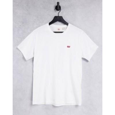 リーバイス メンズ シャツ トップス Levi's original small batwing t-shirt in white White