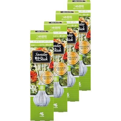 【まとめ買い】サワデー香るスティック 日比谷花壇セレクト イングリッシュガーデン 芳香剤 部屋用 詰め替え用 ルームフレグランス70ml×4個(おま