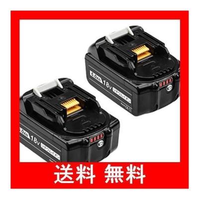 MuniKind互換品マキタ18vバッテリー bl1860b 大容量LED残量表示2個セット電動工具用