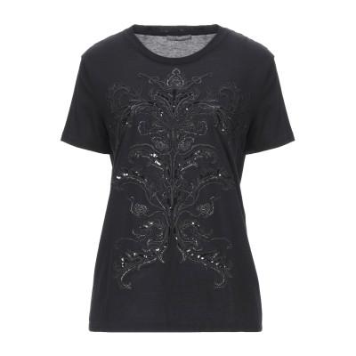アレキサンダー マックイーン ALEXANDER MCQUEEN T シャツ ブラック 42 コットン 100% / レーヨン / ポリエステル /