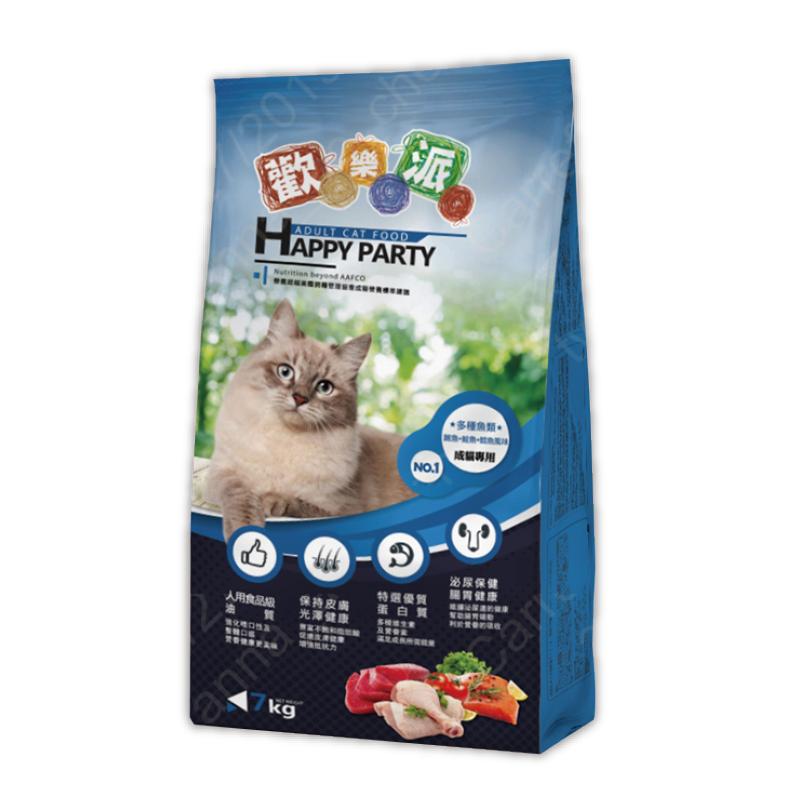 歡樂派貓乾糧(多種魚類-鮪魚+鮭魚+鱈肉)