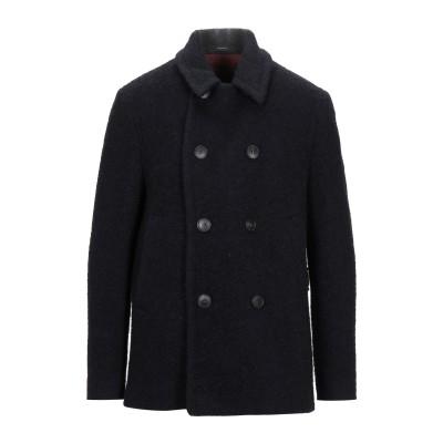 イーヴォ HEVÒ コート ブラック 52 ウール 52% / ナイロン 24% / 毛(アルパカ) 12% / モヘヤ 12% コート