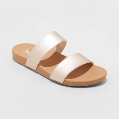 シェード&ショア Shade & Shore レディース サンダル・ミュール シューズ・靴 Dedra Two Band Slide Sandals - Rose Gold