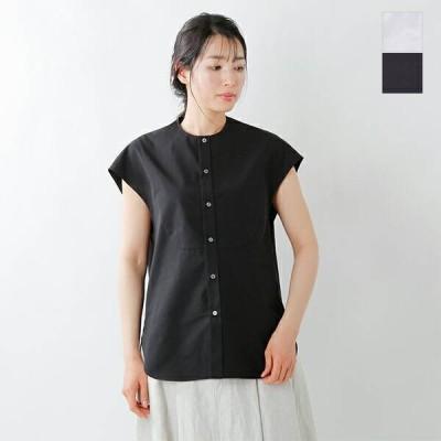 【クーポン対象】Scye サイ ギザコットンポプリンスリーブレスシャツ 1221-31033 2021ss新作