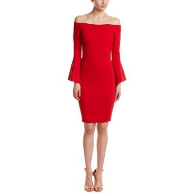 ジャストミー ワンピース トップス レディース Just Me Off-The-Shoulder Sheath Dress red