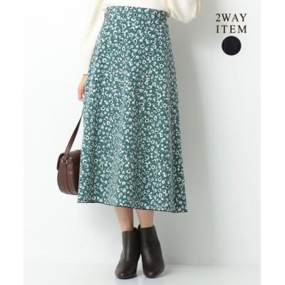 【エニィスィス/any SiS】 【2WAY】プリント&ムジリバーシブル スカート