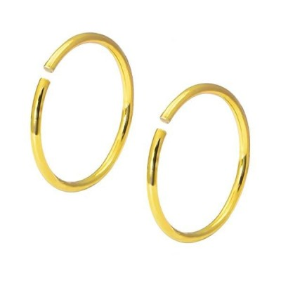 Forbidden Body Jewelry 20g 8mm Surgical Steel Titanium IP Plated Gold Nose