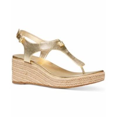 マイケルコース レディース サンダル シューズ Laney Thong Espadrille Sandals Pale Gold
