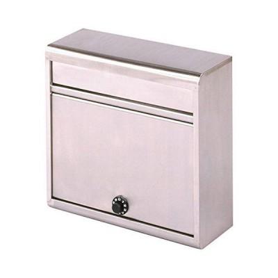 グリーンライフ(GREEN LIFE) 郵便ポスト 薄型ステンレスポスト ダイヤル錠 スリムで設置場所を選ばない 14.0×35.0×37.