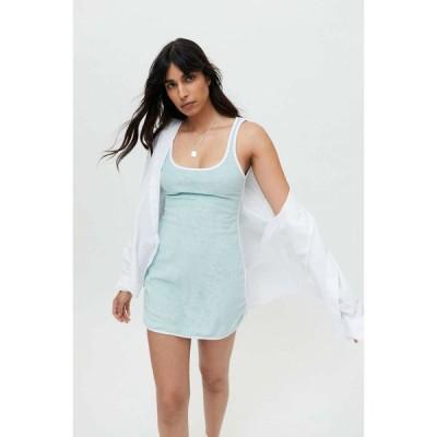 アーバンアウトフィッターズ Urban Outfitters レディース ワンピース ミニ丈 ワンピース・ドレス UO Terry Mini Dress Blue
