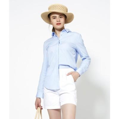 SHOKAY(ショーケイ)ウィメンズ・コットンドレスシャツ(ブルー)