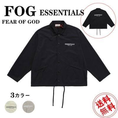 トレンチコート  フィアオブゴッド Fear of God ファスナー パーカー コーチジャケット メンズ レディース FOG Essentials エッセンシャルズ  送料無料