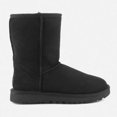 アグ UGG レディース ブーツ シューズ・靴 Classic Short II Sheepskin Boots Black