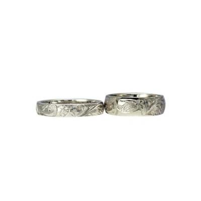 ハワイアンジュエリー リング 指輪 オーダーメイド 1.5mm厚 幅4mm / 幅8mm プラチナバレル ペアリング ハワイ製 結婚指輪