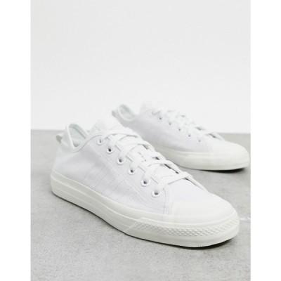 アディダス adidas Originals メンズ スニーカー シューズ・靴 Nizza RF trainers in white canvas ホワイト