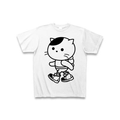 旅する猫 Tシャツ(ホワイト)