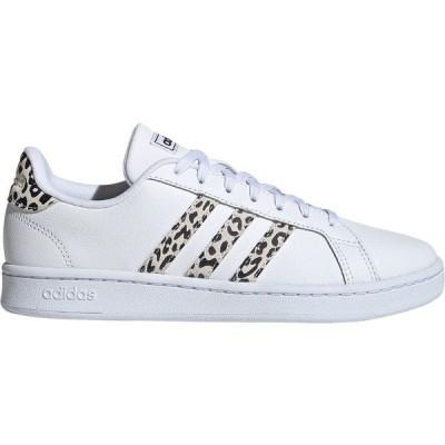 アディダス スニーカー シューズ レディース adidas Women's Grand Court Shoes White/Print