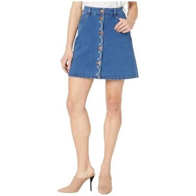 シーバイ クロエ レディース スカート ドレス Washed Denim Skirt