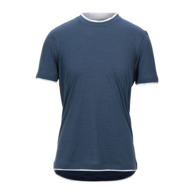 ブルネロ クチネリ BRUNELLO CUCINELLI T シャツ ブルーグレー L シルク 60% / コットン 40% T シャツ