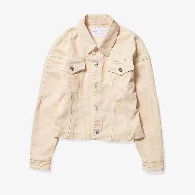 プロエンザ スクーラー ホワイト レーベル Proenza Schouler White Label レディース ジャケット Gジャン ウォッシュ加工 Washed Denim Cinched Jean Jacket