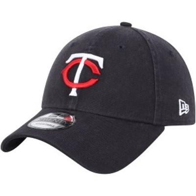ニューエラ メンズ 帽子 アクセサリー Minnesota Twins New Era Home Replica Core Classic 9TWENTY Adjustable Hat Navy