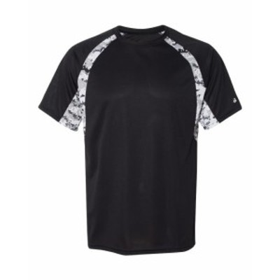 ファッション トップス Badger Mens Digital Hook Tee 4140 S-3XL