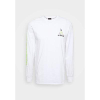 ハフ カットソー メンズ トップス PRISM LOGO SPORTIF - Long sleeved top - white