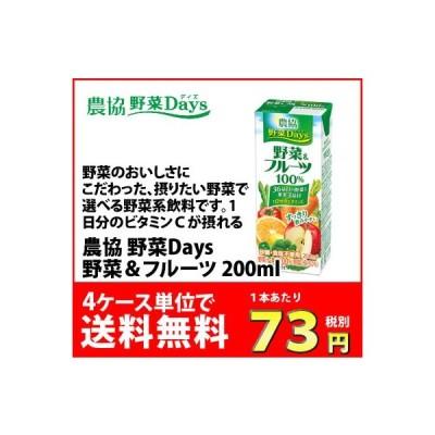 雪印メグミルク 農協野菜Days野菜&フルーツミックス 200ml 1ケース(18本)〜