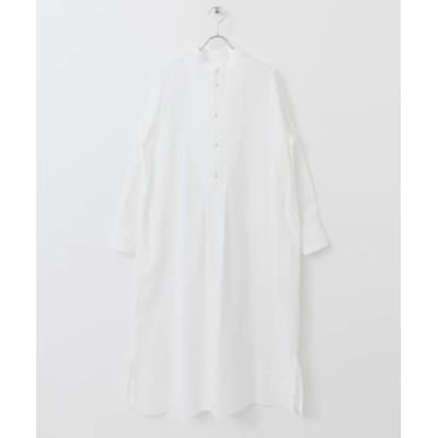 【アーバンリサーチドアーズ】 White Label スーピマコットンタキシードワンピース レディース ホワイト one URBAN RESEARCH DOORS